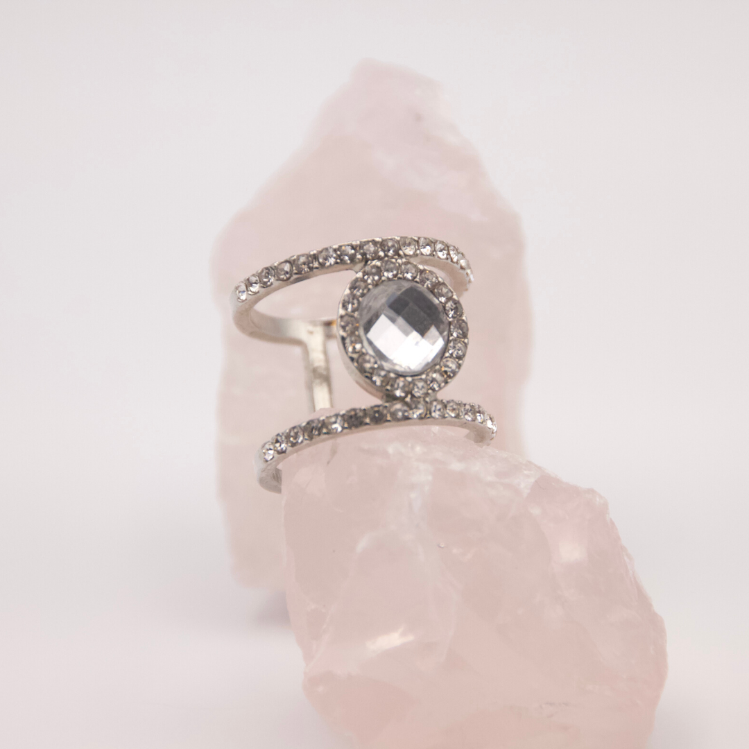 Solitaire & Studded Ring