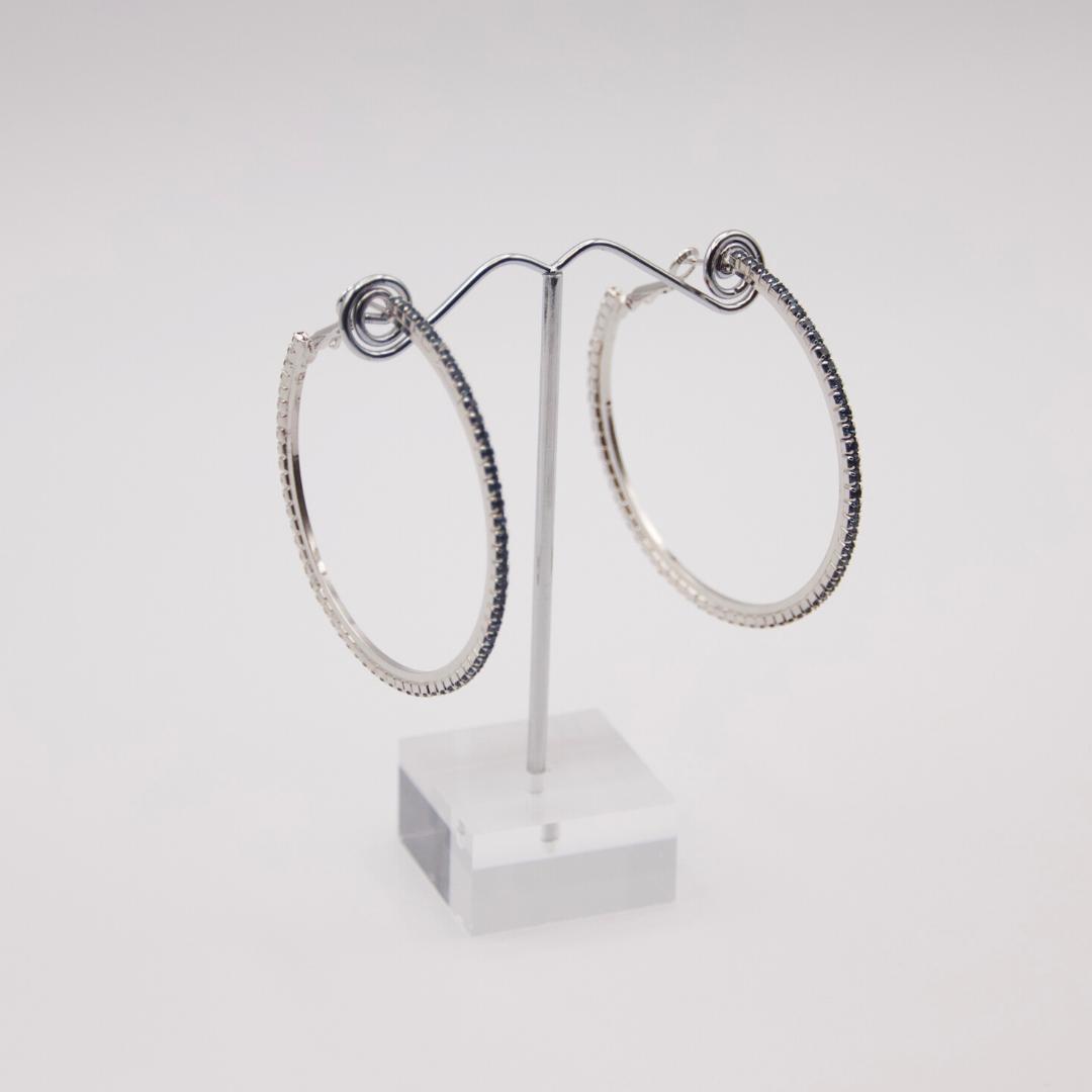 Deep Blue Hoop Earrings