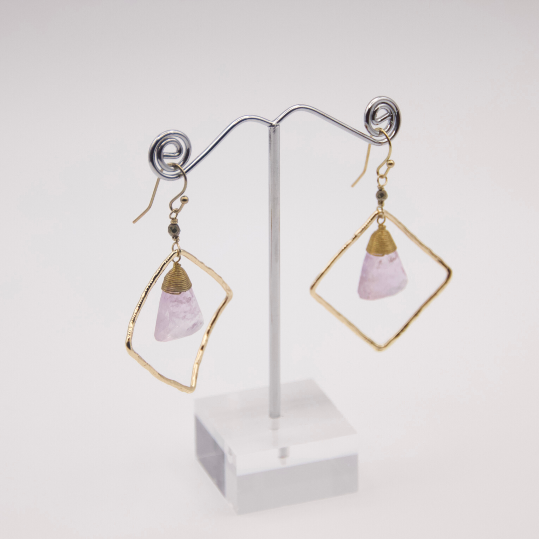 Lilac Stone Earrings