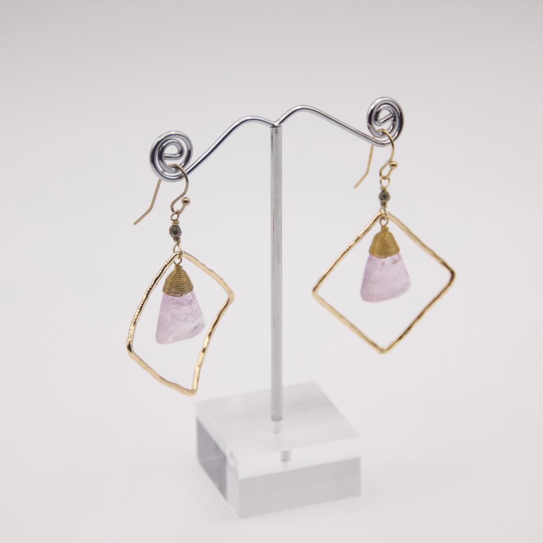 Lilac Stone Earrings