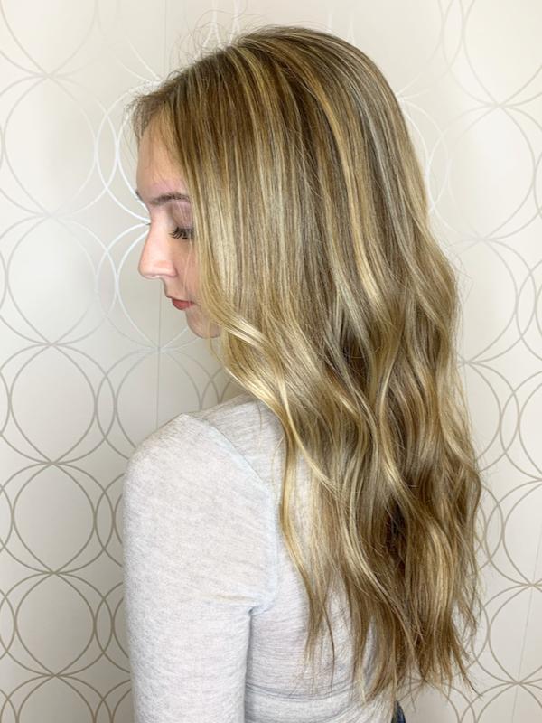 Blonde Highlights on Long Hair