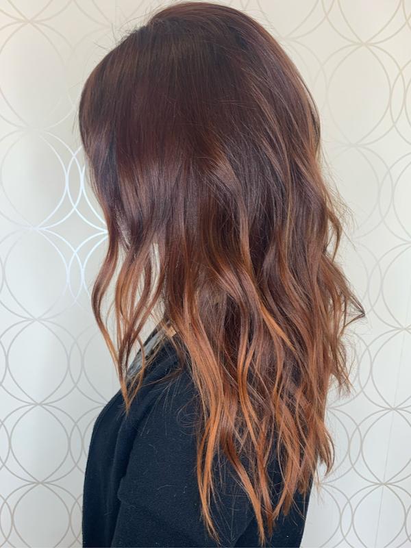 Fall Haircolour Copper Ombre