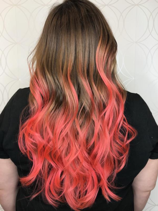 Bright Coral Fashion Hair Colour