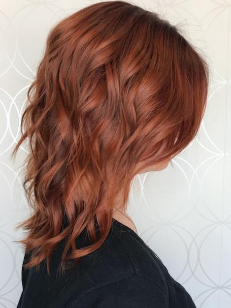 Rich Copper Red Haircolour